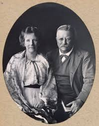 tr center edith kermit carow roosevelt studio portrait of edith and theodore roosevelt taken in 1917 from the roosevelt family scrapbooks