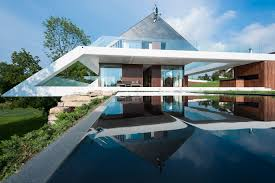 Concrete And Glass House   Modern House Designs   Page Slanted Roof Line Home