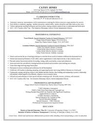 sample teacher resumes special education teacher resume sample education in resume sample