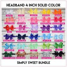 Headband 4 inch <b>Solid Color</b> Bundle <b>Simply</b> Sweet – Bargain Bows