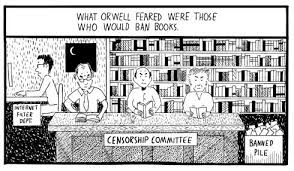 """huxley vs  orwell  whose vision of the future are we living in        """"amusing ourselves to death"""" by stuart mcmillen shows  this is neil postman    s argument  from his book of the same    given graphic form"""