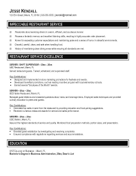 waitress resume  resume templates