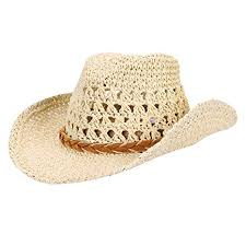 ITODA Parent-Child Trilby Straw Hat Breathable <b>Cowboy</b> Hat ...