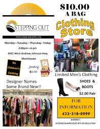 store stepping out inc clothing flyer pic