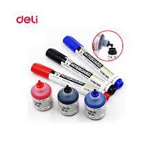 <b>Deli Erasable Whiteboard</b> Marker Pen 1 Pcs Blackboard 1 Ink Bottle ...