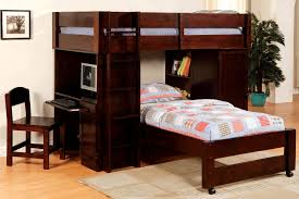 black wood loft bed bunk bed computer desk