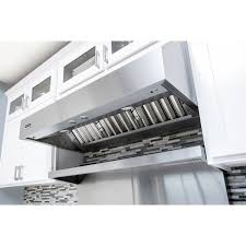 series vent hood: viking professional  series  inch wall vent hood bottom view