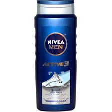 Nivea, <b>Актив 3</b>, <b>Мужской гель</b> для душа 3-в-1, 500 мл (16,9 жидких ...