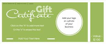 gift certificate template logo if you don t have your own logo then you can make one our logo maker you can then add it to the gift certificate template