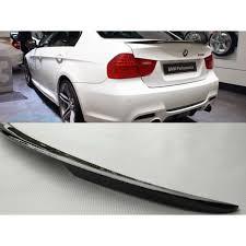 BMW <b>E90</b> MP style carbon fiber car body kit <b>rear trunk spoiler</b> lip ...