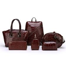 2019 crocodile pattern <b>6pcs handbags set</b> 2019-Hebei ...