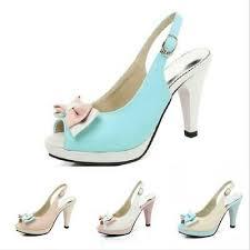 <b>Fashion Bowknot Women's</b> High Heels Open Toe <b>Sandals</b> Party ...