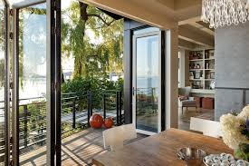 bifold doors dining room contemporary decorating ideas with lake washington nana doors bi fold doors home office