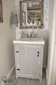 making bathroom cabinets: diy bathroom vanity shantychic diy bathroom vanity shantychic diy bathroom vanity shantychic