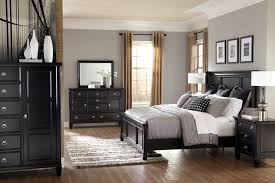 superb contemporary ashley greensburg furniture ideas for master bedroom with black paint wooden king panel bed awesome black painted mahogany