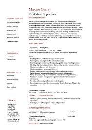 production supervisor resume  sample  example  template  job    production supervisor resume