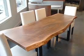 dining table woodworkers: dining room appealing live edge dining table with white