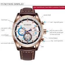 <b>New</b> OCHSTIN 6046G <b>Men</b> Quartz Watch <b>Luxury</b> Leather <b>Strap</b> ...