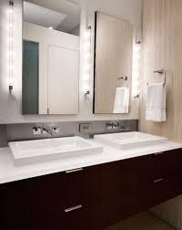 sliding bathroom mirror:  interior bathroom mirror with led lights modern sliding glass doors frameless medicine cabinet  extraordinary
