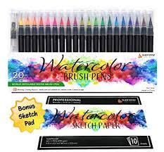 Amazon.com: <b>Watercolor</b> Brush Pens Set, <b>20 Color</b> Markers + Bonus ...