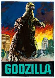 Italian <b>Godzilla movie poster art</b> by Enzo Nistri, 1957 | Flickr