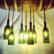 green wine bottle and barrel chandelier for modern design of home lighting with wine bottle light chandelier ideas home interior lighting chandelier