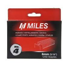 Набор <b>скоб</b> для степлера <b>Miles</b>, <b>тип 140</b>, 8 мм (1250 штук ...