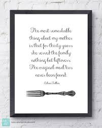 Kitchen Art Print. Calvin Trillin Leftovers Quote. Mothers Day ...