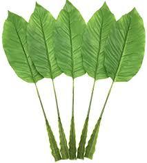 Warmter 5Pcs Tropical <b>Leaves</b>,<b>Fake Artificial Banana leaf</b> for Home ...