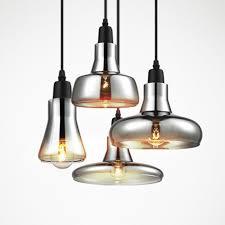 vintage glass pendant light grey color clear color amber color pendant lamps with bulbs amber pendant lighting