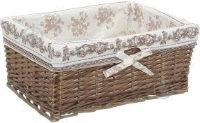 ᐉ <b>Корзина</b> плетеная с текстилем <b>Tony Bridge</b> Basket 42x30x17 ...