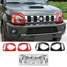 shineka newest metal turn signal light guards lamp covers protector exterior accessories for suziki jimny 2007 car