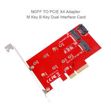 <b>NGFF TO PCIE X4</b> Adapter M Key B Key Dual Interface Card M.2 ...