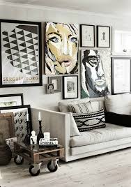 inspire white black living room