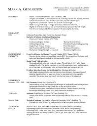 engineering resume example template engineering resume example