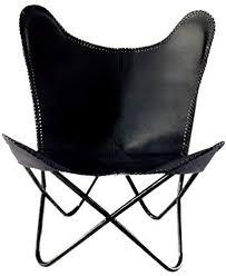 NuBuck Leather <b>Butterfly Chair</b>, <b>Black</b>: Amazon.co.uk: Kitchen & Home