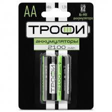 Аккумуляторная батарея <b>Трофи</b> HR6-2BL AA <b>2100mAh</b> 2шт ...