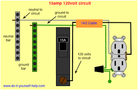 wiring diagram 15 amp circuit breaker 120 volt circuit diy house House Breaker Box Wiring Diagram wiring diagram 15 amp circuit breaker 120 volt circuit home breaker box wiring diagram