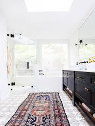 Oversized Bathroom Rugs A New Familys Bohemian Eclectic California Home Glitter Inc