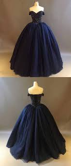 <b>Dark Navy Blue Quinceanera</b> Dresses with Rhinestones Beaded ...