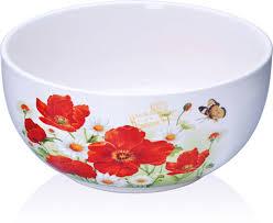 """Суповая чашка <b>Loraine</b> """"<b>Маки</b>"""", цвет: белый, красный, <b>580</b> мл ..."""