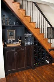 set cabinet full mini summer: simple eclectic wine cellar set under the staircase with black built in wall cabinetry and shelving for wine glasses will inspire you about how to set up