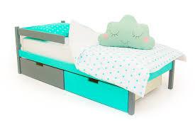 """Детская <b>кровать Бельмарко</b> """"<b>Skogen</b> classic графит-<b>мятный</b>"""" в ..."""