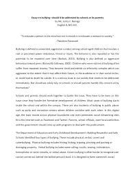 essay on bullying