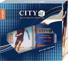 <b>Парфюмерный набор City</b> 3D Sport: туалетная вода, 90 мл, гель ...