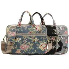 Women Girl Laptop Messenger <b>Bag</b> Flower <b>Canvas</b> 13 <b>14</b> 15 inch ...