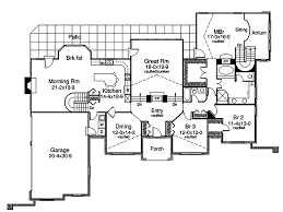 Avondale Cliff Atrium Home Plan D    House Plans and MoreLuxury House Plan First Floor   D    House Plans and More