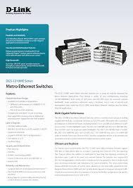 Metro Ethernet Switches