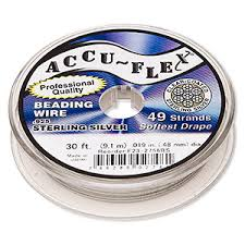 Accu-Flex <b>Sterling Silver Beading</b> Wire - Fire Mountain Gems and ...