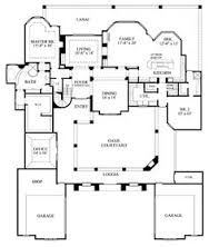 images about Floor plans on Pinterest   Courtyards    First Floor Plan of Mediterranean House Plan